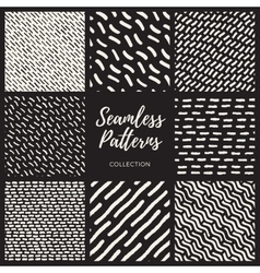Set of eight seamless lines patterns vector