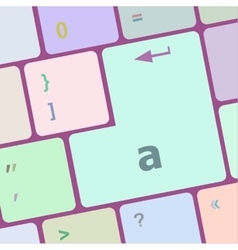 a word on computer button keyboard key vector image