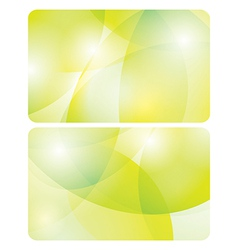 abstract yellow and green backgrounds - cards vector image