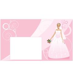 Bride and wedding background vector