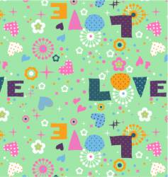 cute seamless love vector image vector image