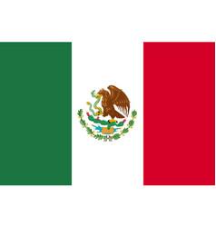 Flag mexico flat icon vector