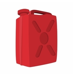 Fuel container jerrycan cartoon icon vector image vector image