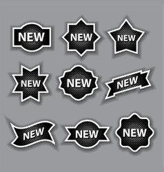 Halftone advertising stickers vector