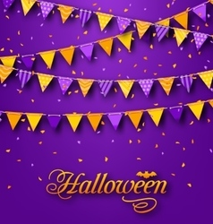 Halloween Party Background with Hanging Triangular vector image vector image