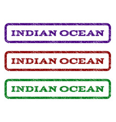 Indian ocean watermark stamp vector