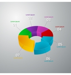 infographics 3d ring vector image