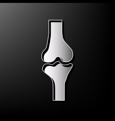 Knee joint sign gray 3d printed icon on vector