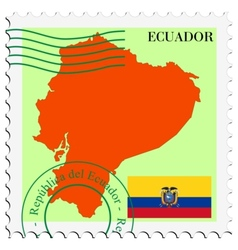 Mail to-from ecuador vector