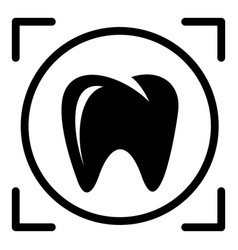 One tooth icon simple style vector