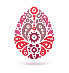 Ornamental floral decorative easter egg vector
