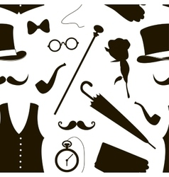 Pattern of elements for gentlemen vector