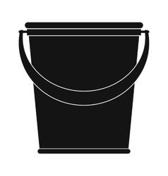 Plastic bucket black simple icon vector