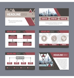 Presentation templates set vector