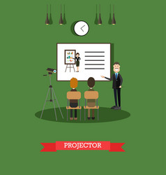 projector concept in flat vector image