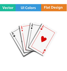 Set of four card icons vector