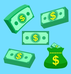 Set of money vector image vector image