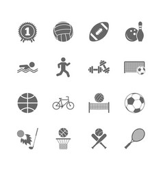 Set of sport and fitness icons vector