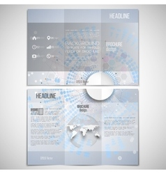 set of tri-fold brochure design template on vector image