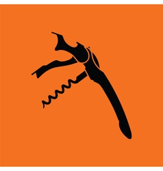 Waiter corkscrew icon vector