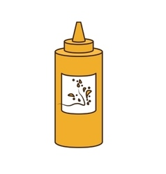 Sauce bottle fast food related icon image icon vector