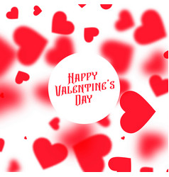 Beautiful valentines day background with red vector