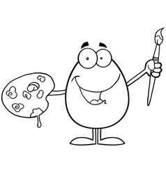 Egg cartoon character vector