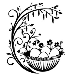 Easter eggs spring vector image