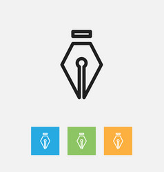 Of science symbol on ink vector