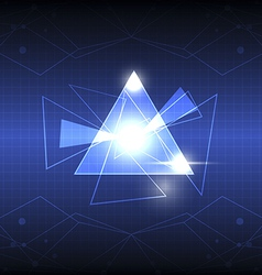 Abstract triangle design vector
