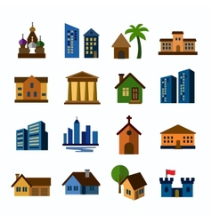 hous icons vector image