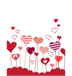 Growing hearts vector