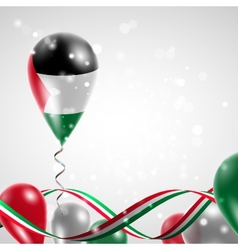Flag of palestine on balloon vector