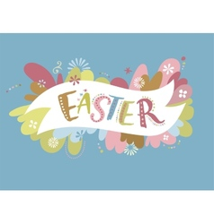 Happy easter - card vector image