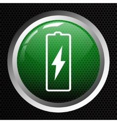 Battery icon background vector