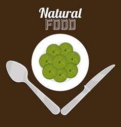Natural food design vector