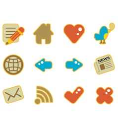 Cute icon website vector