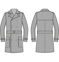 Trench coat for men vector