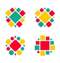 Company logo design elements vector image