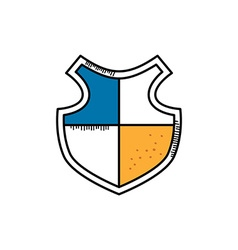Cartoon shield doodle theme vector
