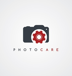 Camera service photography care icon sign logotype vector