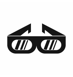 Glasses for 3d movie icon simple style vector