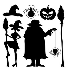 A set of halloween elements vector