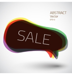 Abstract 3d speech sale bubble icon background vector image vector image