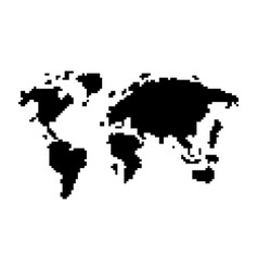 abstract pixel world map vector image