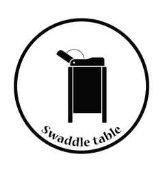 Baby swaddle table icon vector image vector image