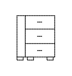 cabinet office drawers wooden furniture vector image