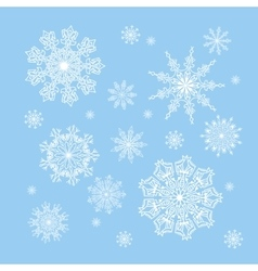 christmas snowflakes collection circle ornament vector image