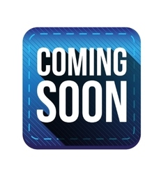 Coming soon button blue vector image vector image