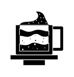 contour tasty espresso coffe cup vector image